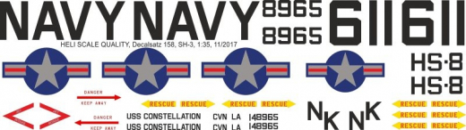 SH-3 - US Navy - Decal 158 - 1:35
