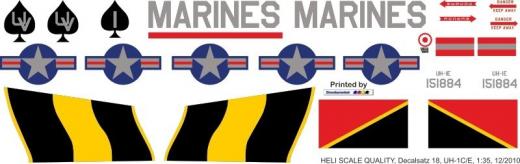 UH-1C Huey - US Marines - Decal 18 - 1:35