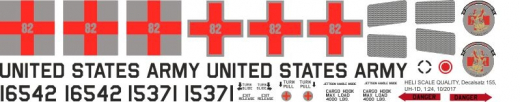 UH-1D - US Army 82nd Medical Detachment - Decal 155 - 1:24