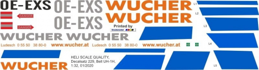 UH-1H - Wucher Helicopter - OE-EXS - Decal 229
