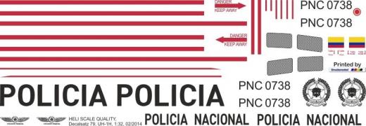 UH-1H - Policia Nacional - PNC 0738 - Decal 79 - 1:48