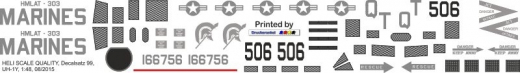 UH-1Y - US Marines - Decal 99 - 1:48