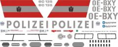 EC 135 - Polizei Österreich - OE-BXY - Decal 163 - 1:32