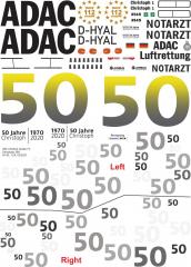 H145 / EC 145T2 - ADAC - D-HYAL 50 Jahre ADAC - Decal 289 - 1:24