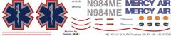 EC 145 - Mercy Air - N984ME - Decal 256 - 1:24