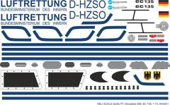 EC 135 - Luftrettung BMI - D-HZSO - Decal 298 - 1:32