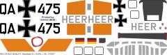 H-34G - Heer - Decal 61 - 1:32