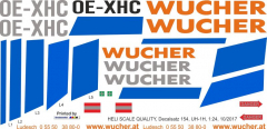 UH-1H - Wucher Helicopter - OE-XHC - Decal 154 - 1:48
