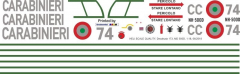 MD 500D - Carabinieri - CC 74 - Decal 173 - 1:35