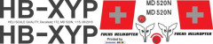MD 520N - Fuchs Helikopter - HB-XYP - Decal 172 - 1:15