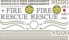 MD 520N - Honolulu Fire Department - N5232G - Decal 165 - 1:15