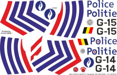 MD 520N - Polizei Belgien - Decal 169 - 1:15