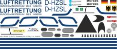 EC 135 - Luftrettung BMI - D-HZSL - Decal 212 - 1:18