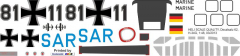 H-34G - Marine SAR - Decal 62 - 1:48
