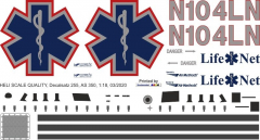 AS 350 - Mercy Air - N104NL - Decal 255