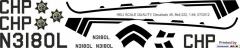 Bell 222 - California Highway Patrol - N3180L - Decal 49