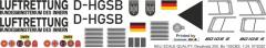 Bo 105CBS - Luftrettung BMI - D-HGSB - Decal 250 - 1:32