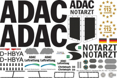 EC 135 - ADAC - D-HBYA - Decal 204