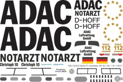 EC 135 - ADAC - D-HOFF Christoph 10 - Decal 159 - 1:32