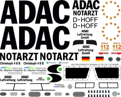 EC 135 - ADAC - D-HOFF Christoph 8 - Decal 271 -1:32