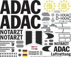 EC 135 - ADAC - D-HXAC - Decal 161 - 1:32