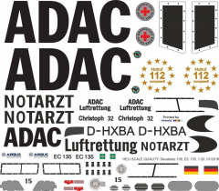 EC 135 - ADAC - D-HXBA - Decal 108 - 1:32