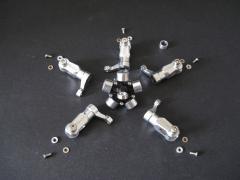 Fünfblatt Rakonheli für 4 mm Wellen