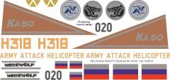 Ka-50 - H 318 Werewolf - Decal 80 - 1:24