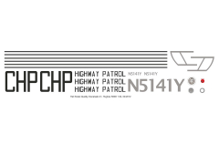 MD 500D - California Highway Patrol - N5141Y - Decal 41 - 1:35