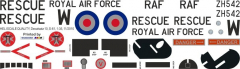 S-61 - Royal Air Force - ZH542 - Decal 10 - 1:35