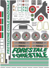 S-64F - Forestale neue Version - I-CFAG - Decal 181