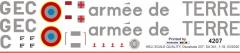 SA 341 - armee de TERRE - GEC - Decal 257 - 1:18