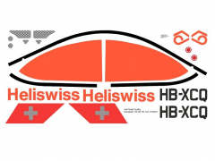 UH-1B - Heliswiss - HB-XCQ - Decal 110 - 1:24