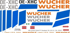 UH-1H - Wucher Helicopter - OE-XHC - Decal 154 - 1:24